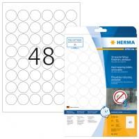 HERMA 4571 Folienetiketten weiß wetterfest 30 mm rund